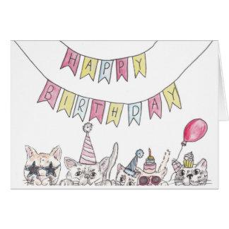 Birthday Cats Card
