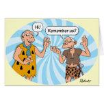 Birthday: Cavemen Humour Card