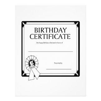 Birthday Certificate 21.5 Cm X 28 Cm Flyer