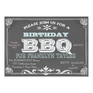 Birthday Chalkboard BBQ Card