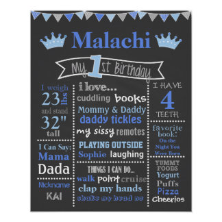 Birthday Chalkboard - Prince Poster