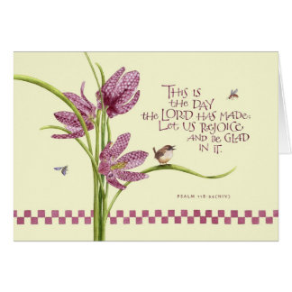 Birthday/Checkered Lily Greeting Card