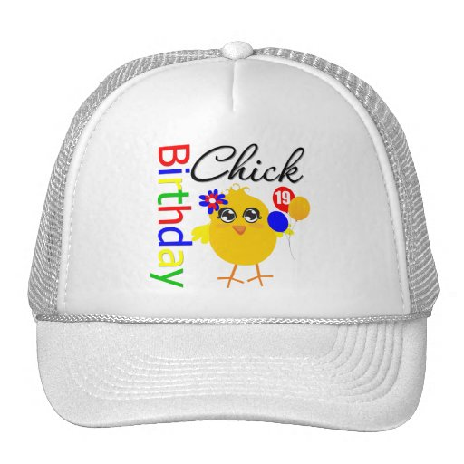 Birthday Chick 19 Years Old Mesh Hat