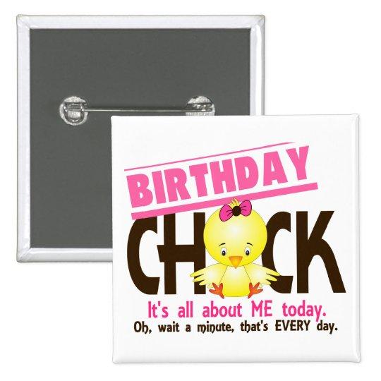 Birthday Chick 3 15 Cm Square Badge
