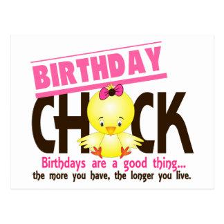 Birthday Chick 4 Postcard