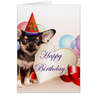 Birthday Chihuahua dog Card
