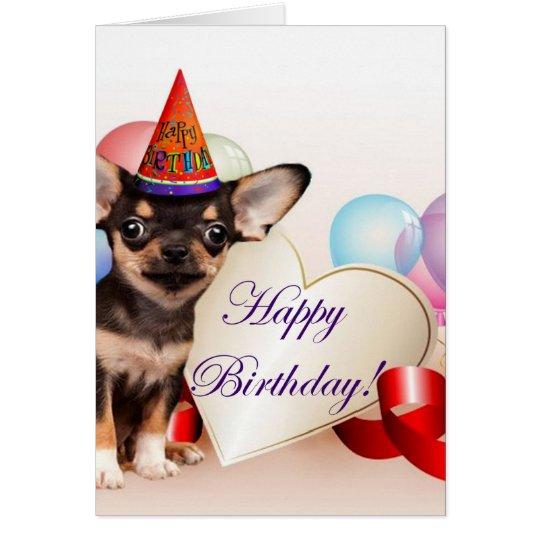 Birthday Chihuahua dog Card