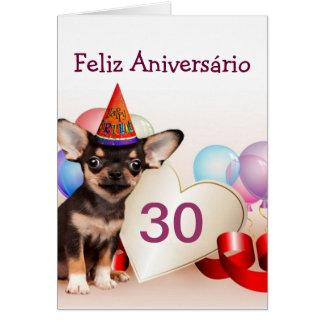 Birthday Chihuahua dog greeting card