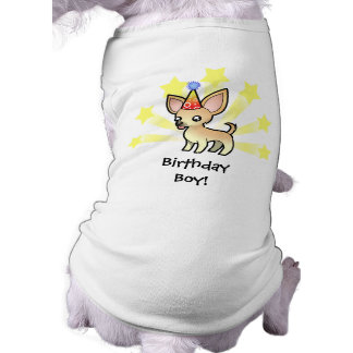 Birthday Chihuahua (smooth coat) Sleeveless Dog Shirt