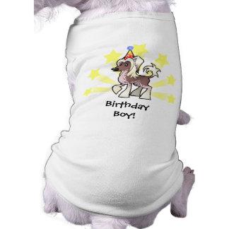 Birthday Chinese Crested (hairless) Sleeveless Dog Shirt