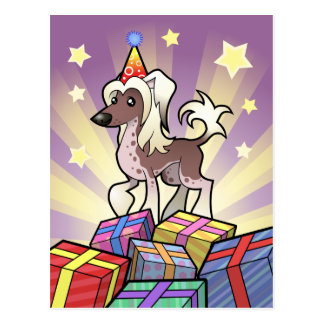 Birthday Chinese Crested (hairless) Postcard