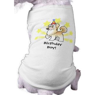 Birthday Chinese Crested (powderpuff) Sleeveless Dog Shirt
