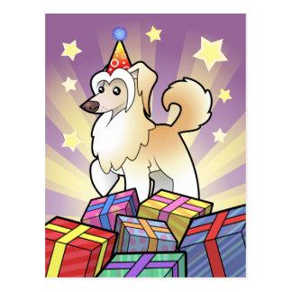 Birthday Chinese Crested (powderpuff) Postcard