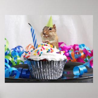Birthday chipmunk poster
