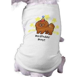 Birthday Chow Chow Sleeveless Dog Shirt