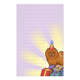 Birthday Chow Chow Stationery Paper