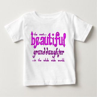Birthday Christmas Parties Beautiful Granddaughter Baby T-Shirt