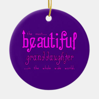 Birthday Christmas Parties Beautiful Granddaughter Christmas Ornament