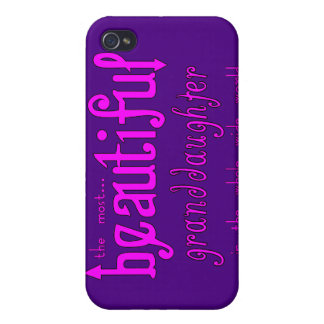 Birthday Christmas Parties Beautiful Granddaughter iPhone 4/4S Covers