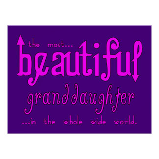 Birthday Christmas Parties Beautiful Granddaughter Poster