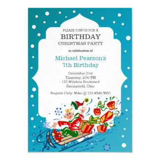 Birthday Christmas Party Kid's Card