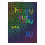 Birthday circles for brother aged 50 cards