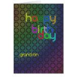 Birthday circles for Grandson Greeting Card