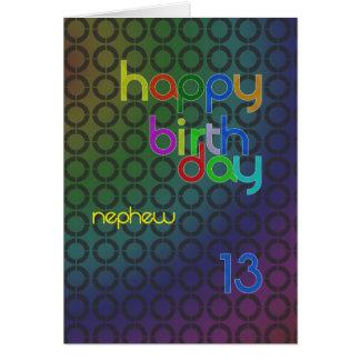 Birthday circles for Nephew aged 13 Greeting Card