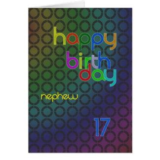 Birthday circles for Nephew aged 17 Greeting Card
