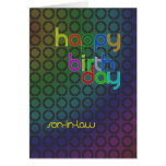 Birthday circles for son-in-law greeting card