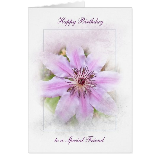 Birthday Clematis Card