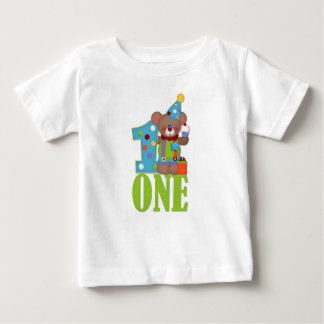 Birthday Clown Bear, First Birthday Baby T-Shirt