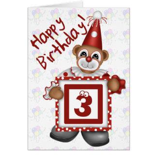 Birthday Clown Greeting Card