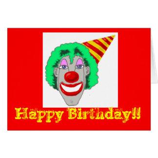 Birthday Clown Face Cards