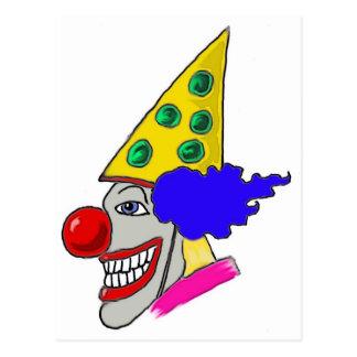 Birthday Clown Gifts Postcard