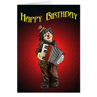 Birthday Clown Greeting Card