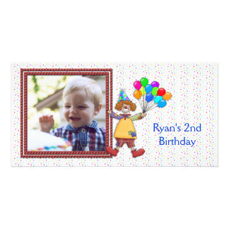 Birthday Clown Photo Card