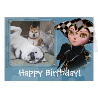 Birthday Clown Photo Card Template