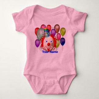 Birthday clown, Your Name Baby Bodysuit