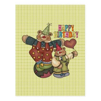 Birthday Clowns Postcard