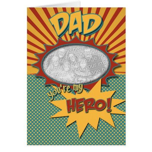 Birthday Comic Book Hero DAD Greeting Cards