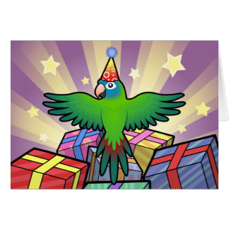 Birthday Conure / Lorikeet / Parrot Greeting Card