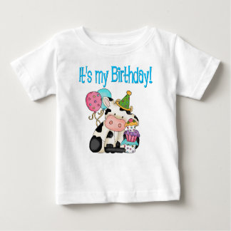 Birthday Cow Baby T-Shirt