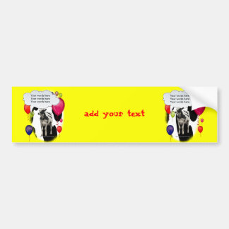 Birthday Cow Theme Party Bumper Sticker