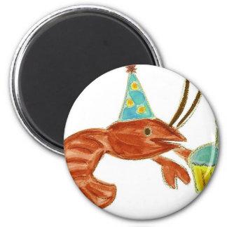 Birthday Crawfish Cupcake 6 Cm Round Magnet