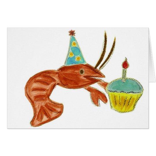 Birthday Crawfish Cupcake Card