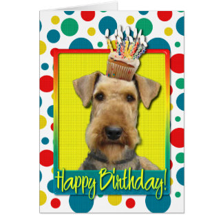 Birthday Cupcake - Airedale Card