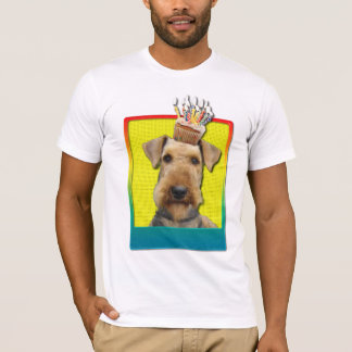 Birthday Cupcake - Airedale T-Shirt