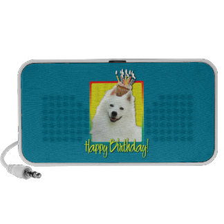 Birthday Cupcake - American Eskimo Laptop Speakers