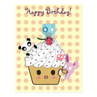 Birthday Cupcake Attack! Postcard